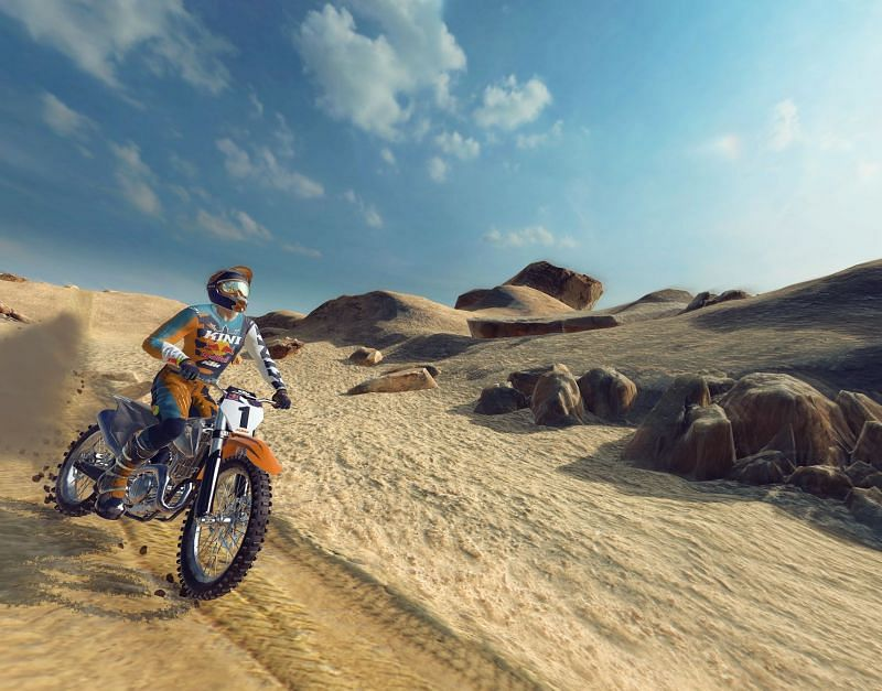 Red Bull Dirt Bike Unchained Xtrme Challenge In Game Image