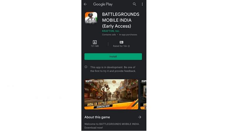 download Battlegrounds Mobile India