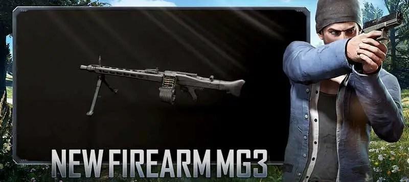 BGMI 1.5 Update - New Firearm MG3 Light Machine Gun