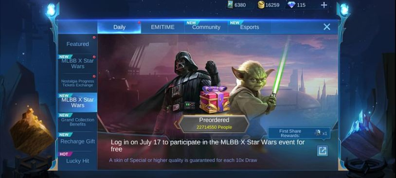 MLBB x Star Wars Skins image 2