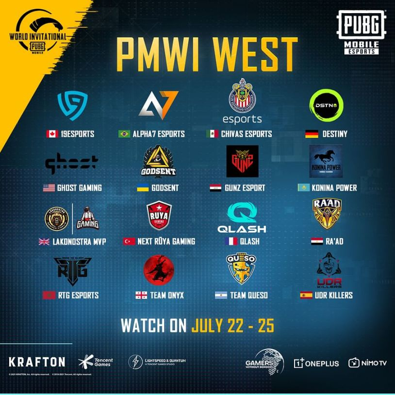 PMWI West Teams
