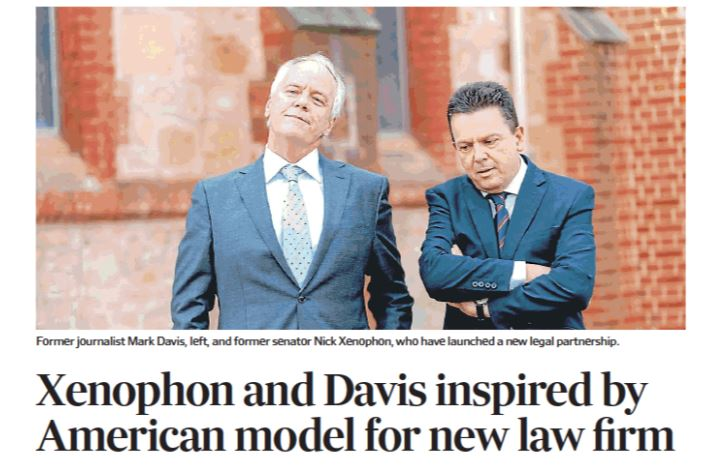 Xenophon and Davis inspired by American model for new law firm2