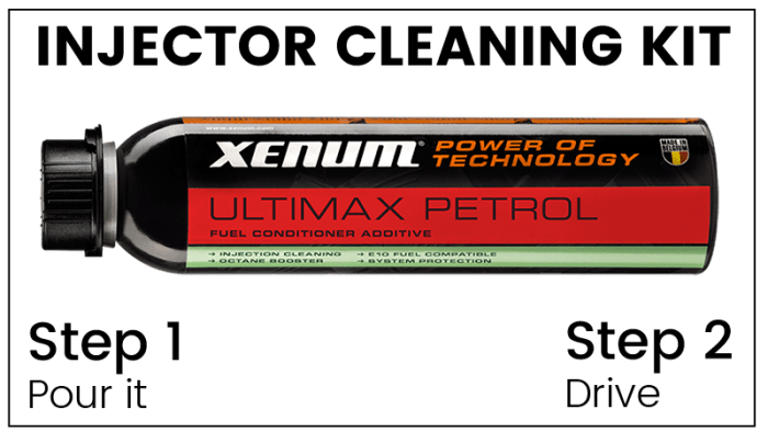 Injector Cleaning Kit - Ultimax Petrol for clogged injector cleaning