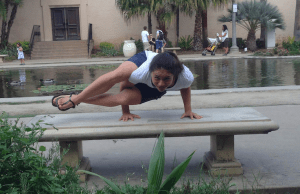 marissa doing yoga in xero shoes barefoot sandals