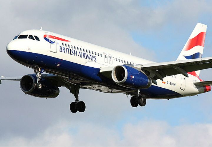 BA short-haul aircraft in the air