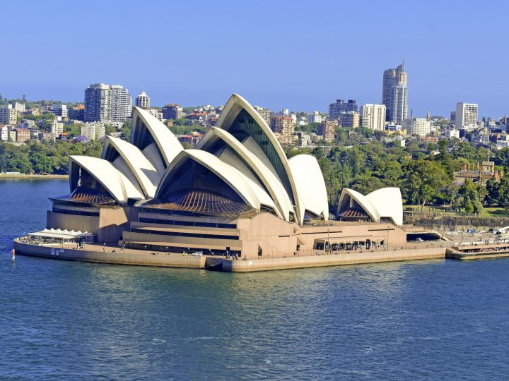 View of the iconic Sydney Opera House
