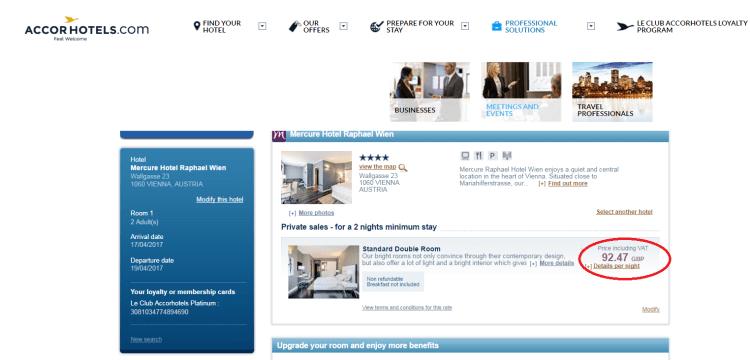 Accor Private Sales accor site comparison