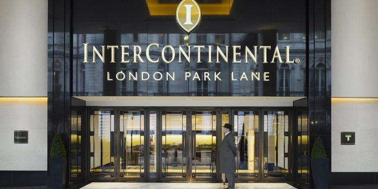 Entrance to the InterContinental Park Lane, London