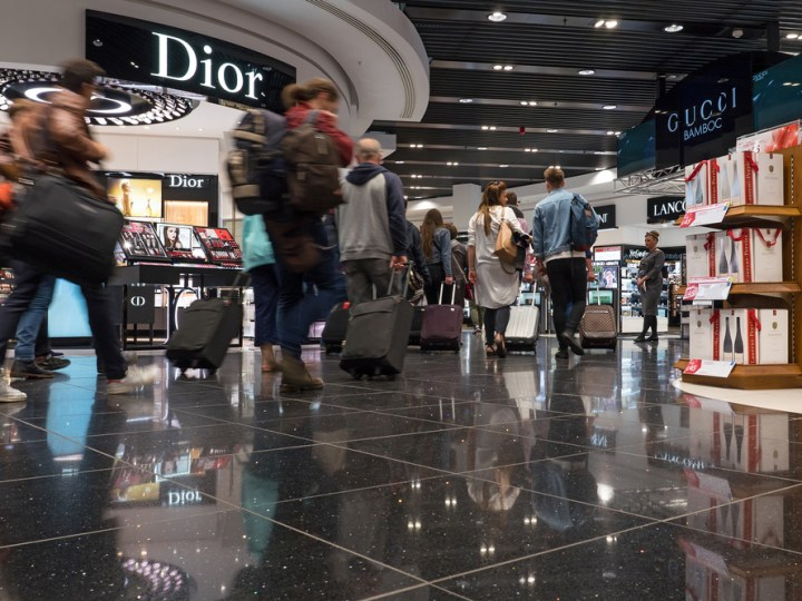 Airport shopping at London Heathrow Airport