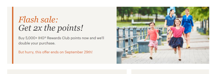 IHG 100% buy points promotion