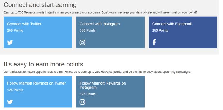 Earn free Marriott points via social media