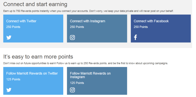 Earn free Marriott points via social media