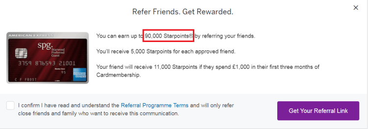 spg amex referral