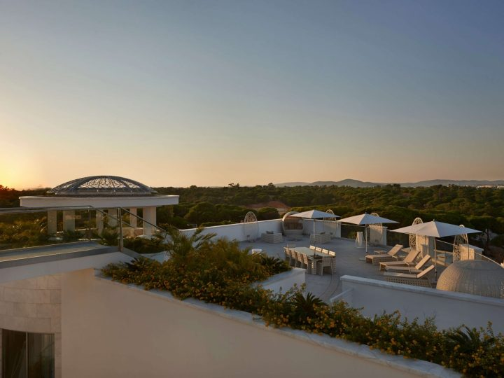 Outdoor terrace at the Conrad Algarve