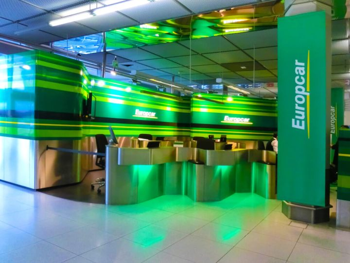 Europcar rental counter Dusseldorf