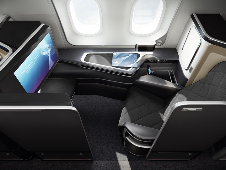 BA First Class cabin on the 787-9 Dreamliner