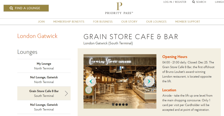 Priority Pass - Grain Store & Cafe