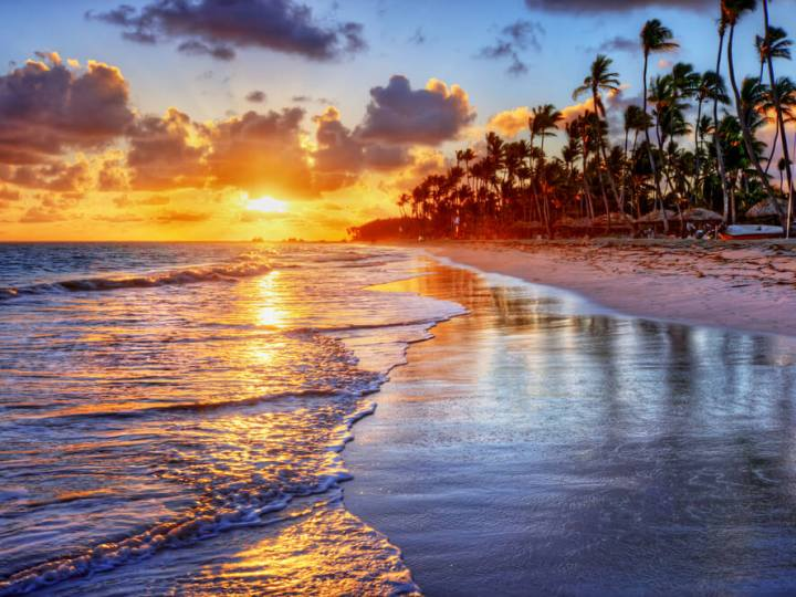 Sunrise on beach generic image