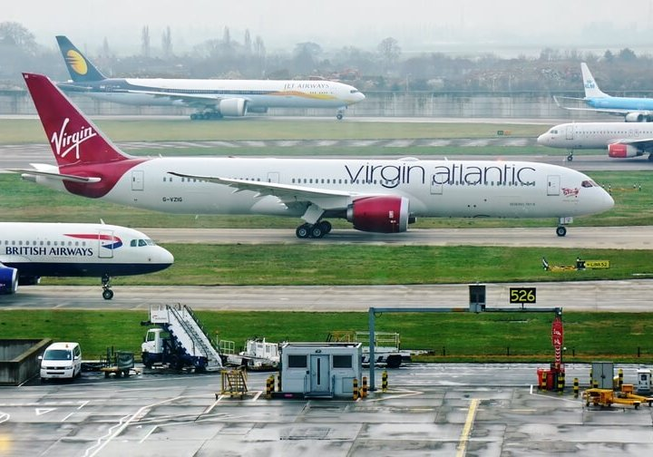 British Airways and Virgin planes on the tarmac