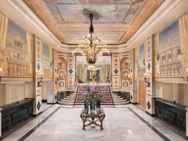 Lobby at the Westin Palace Madrid