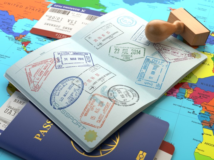 Misc passport image with world map
