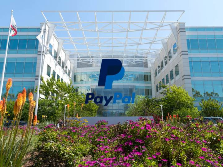 Exterior of Paypal HQ in Silicon Valley