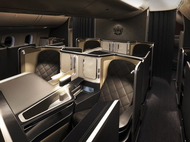 British Airways 787-9 First Class cabin
