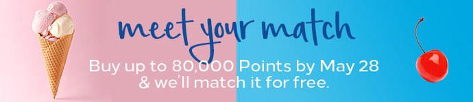 Hilton buy points 100% bonus - April 19