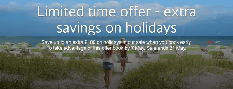 BA Holidays extra £100 early bird discount