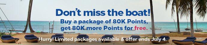 Hilton Buy points 100% bonus July 19