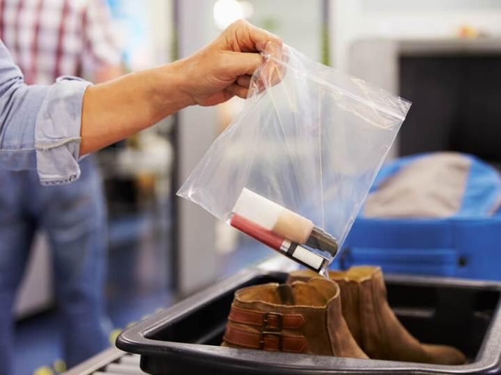 Liquids at airport security check