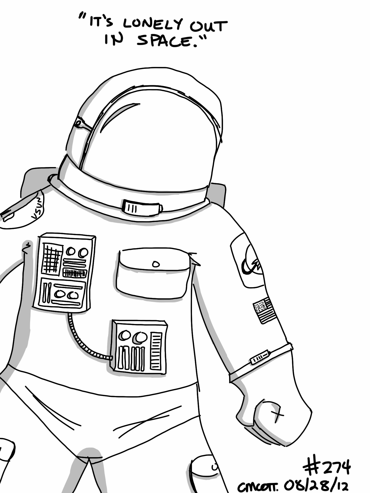 Space Suit Drawing Page 2