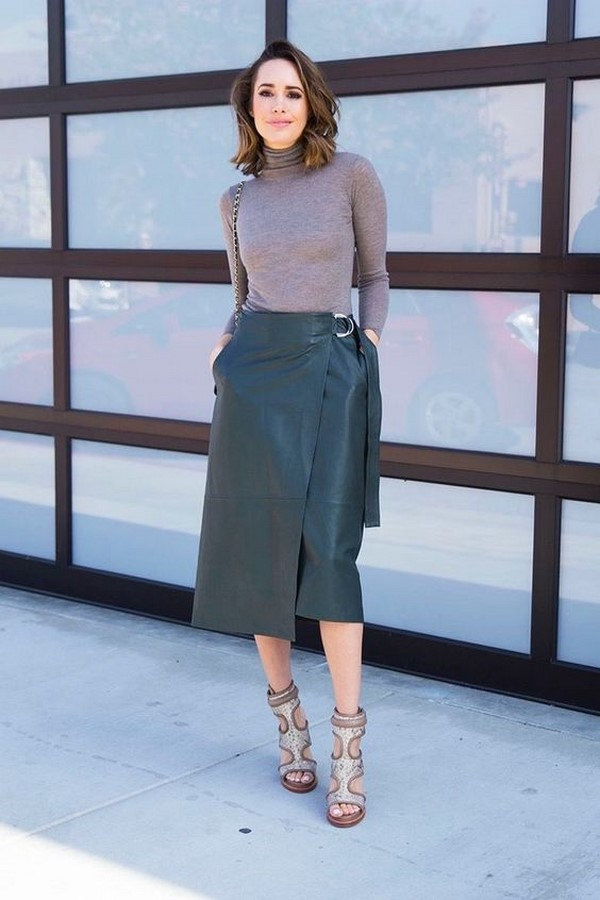 Mid length skirts how to style