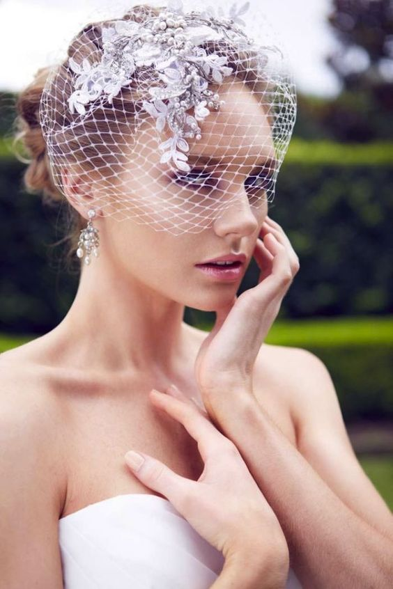 Wedding hairstyle with veil 2022