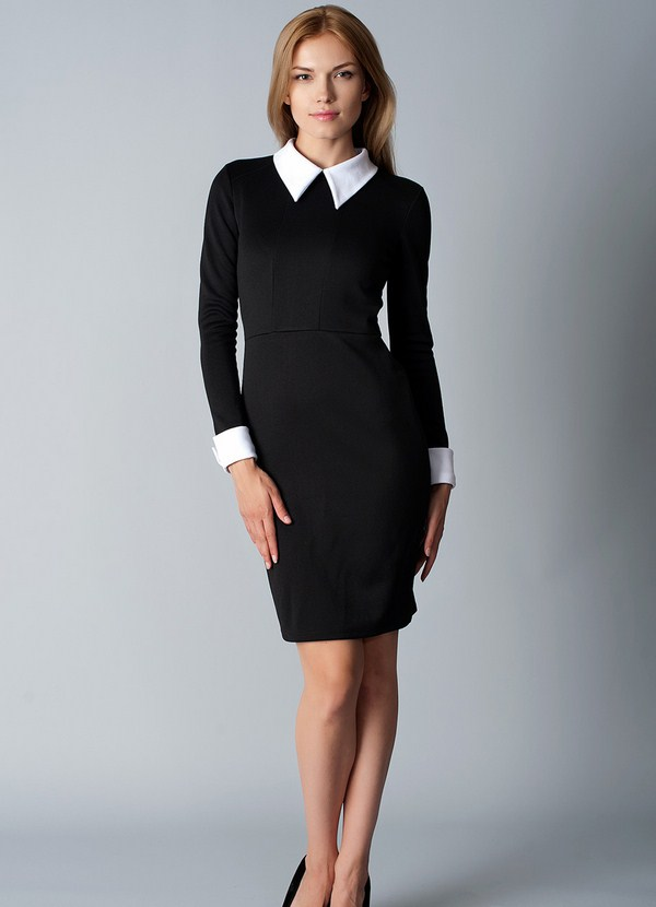 Office dresses 2020 for ladies with white collar