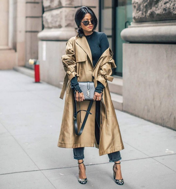 Long leather trench coats 2021