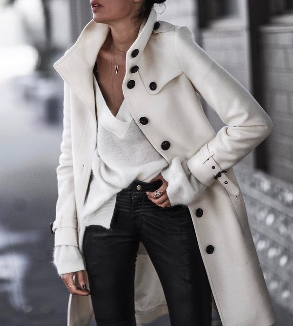 White trench coats for women 2020