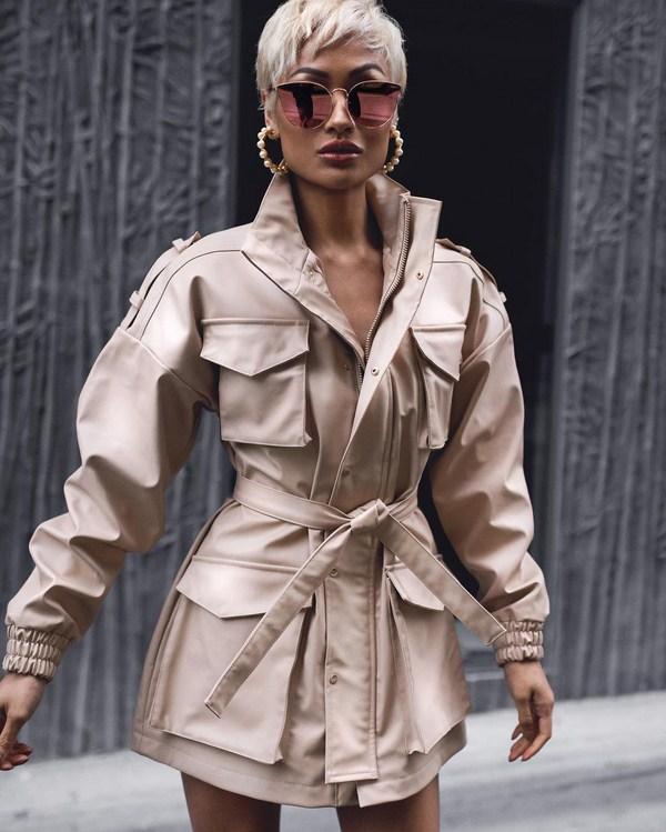 Short stylish trench coats
