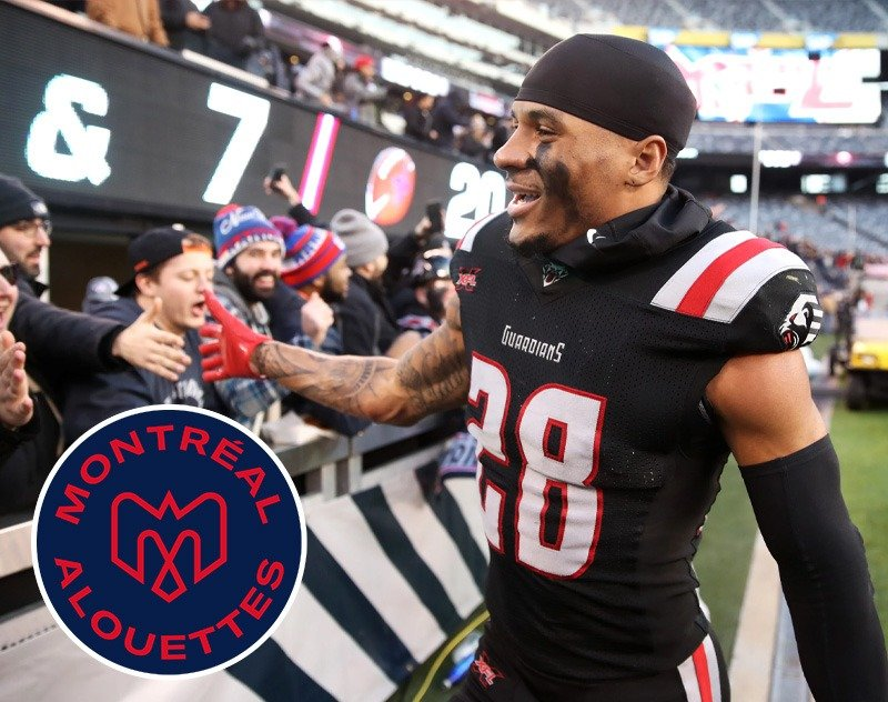 Alouettes Sign Former New York Guardians DB Wesley Sutton