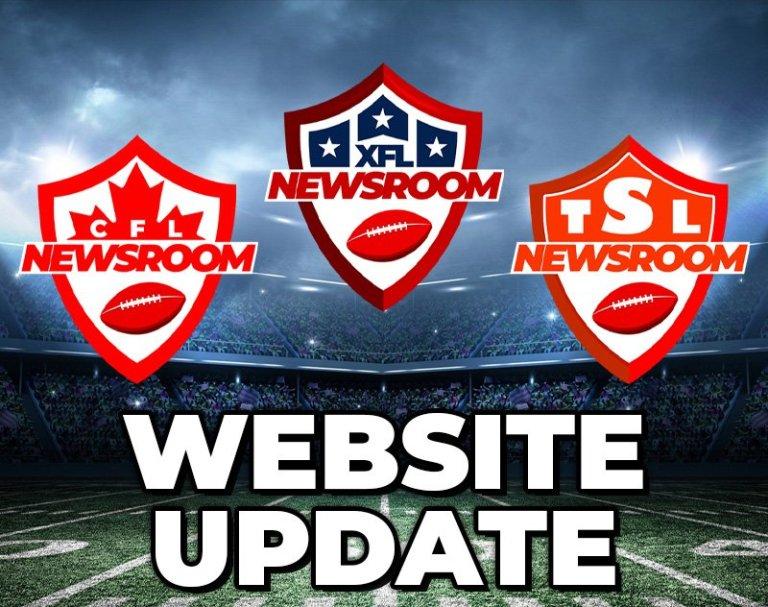Talking CFL, The Spring League & XFL - Plus, Major Website Update!