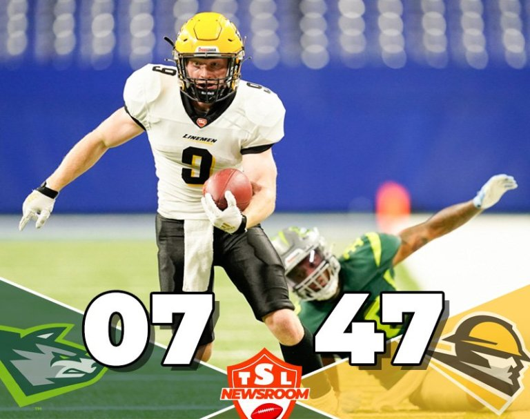 The Linemen Wreck the Alphas 47-7 — Go 2-1 on the Season