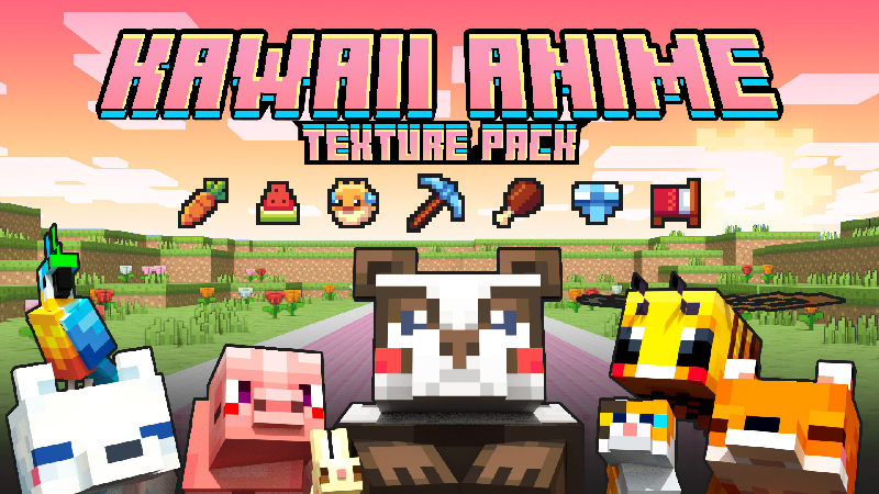 Trying out different texture packs in bedwars. Kawaii Anime In Minecraft Marketplace Minecraft