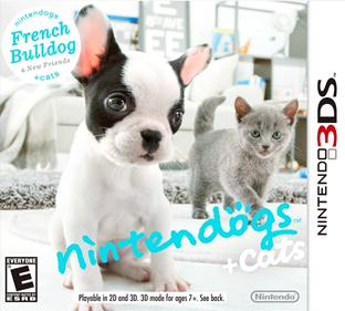 Portada-descargar-rom-3DS-Mega-CIA-Nintendogs-Plus-Cats-French-Bulldog-and-New-Friends-EUR-3DS-Multi6-Espano-gateway3ds-sky3ds-mega-emunad-xgamersx.com