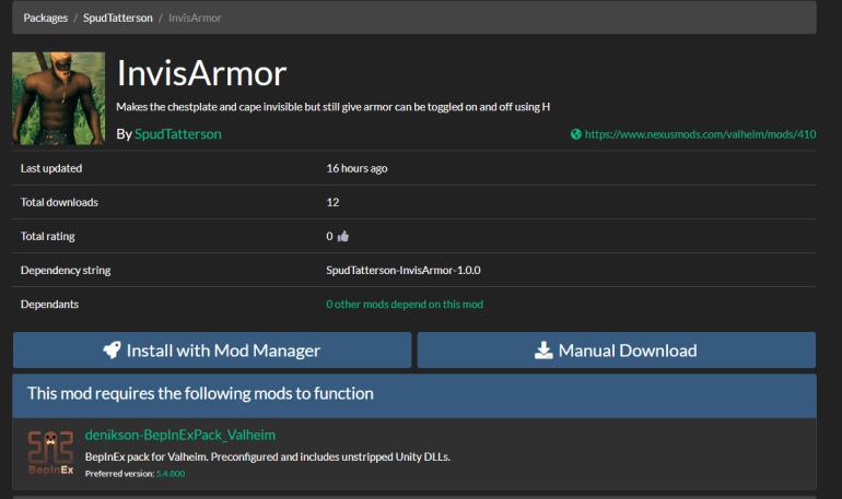 Install Mods Valheim Server