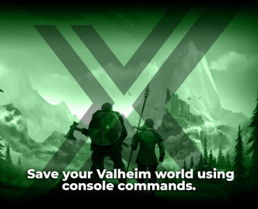 save your Valheim world using console commands.