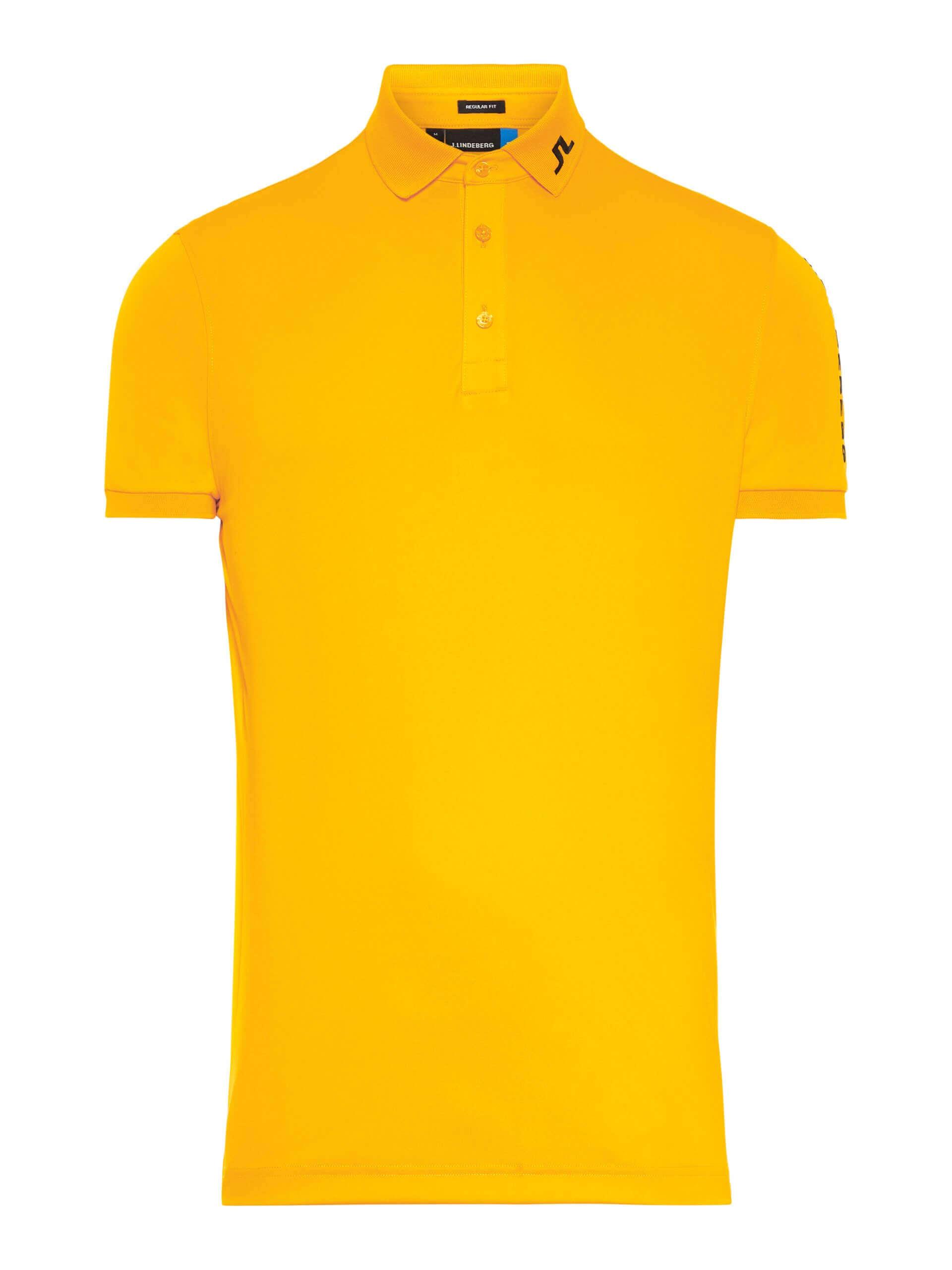 J.Lindeberg Tour Tech Reg Polo TX Jersey in warm orange