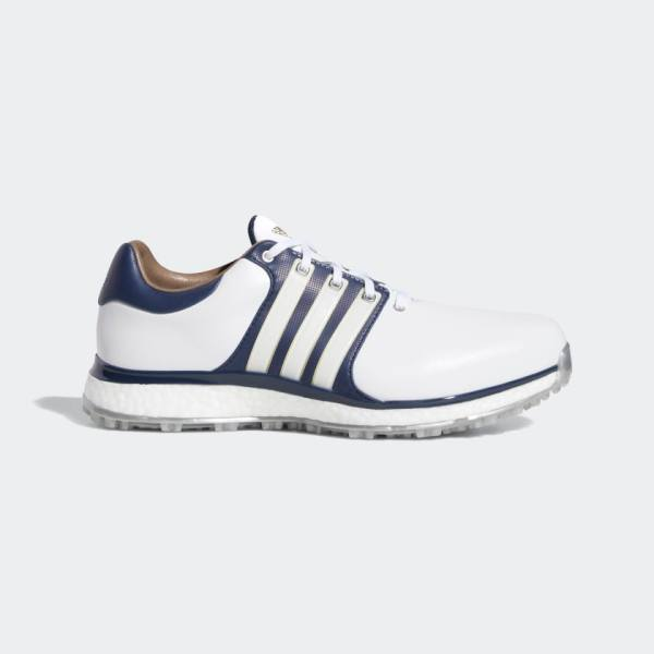 adidas - Tour360 XT-SL Shoes in white, collegiate navy and gold