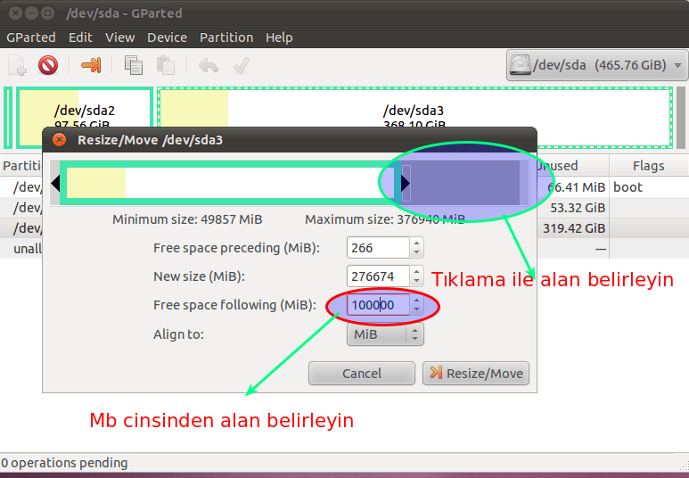 * Gparted İle Windows'dan Linux'a Yer Ayırıyoruz (5/6)
