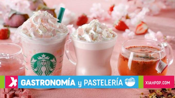 Conoce la linea primaveral Starbucks Japón inspirada en los arboles de cerezos