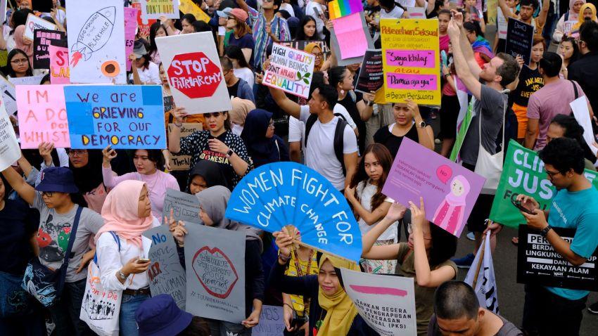 [Entrevista] Marcha de mujeres en Yakarta, Indonesia.